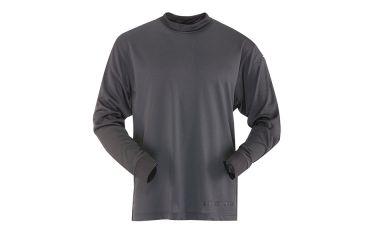 Tru-Spec 24-7 TAC LS Tee-Shirt 100% Poly Jersey Knit, Black, Small Regular 4320003