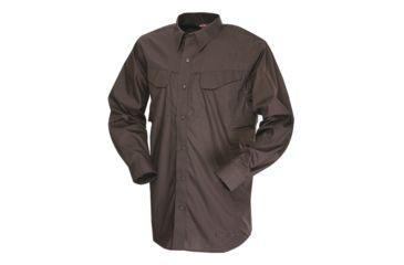 Tru-Spec 24-7 Ultralight LS Field Shirt 65/35 Poly/Cotton Rip-Stop, Brown, XSmall Regular 1227002