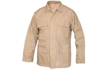Tru-Spec Basic BDU Jacket Khaki C/P R/S,Small Reg. 1589003