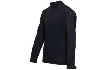 Tru-Spec Combat Tru Shirt Black P/C Rip Stop, Xsr 2552002