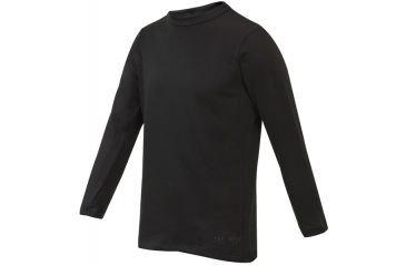 Tru-Spec Crew Long Sleeve Shirt, Black GEN-III POLYPRO, S 2786003