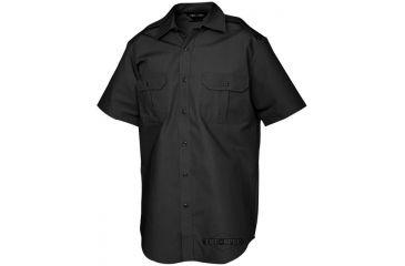 Tru-Spec Tact Dress Shirt, TRU Black P/C R/S Short Sleeve,Small Reg. 1014003