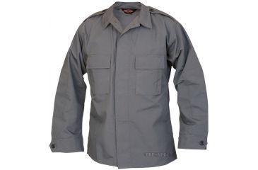 Tru-Spec Tactical Shirt, CHAR GREY PC RS LS, 4XL Reg. 1376009