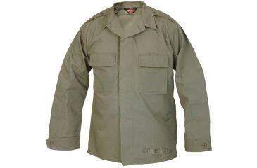Tru-Spec Tactical Shirt, TRU OD Green PC RS LS, Extra Small Reg. 1379002