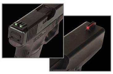 TruGlo Fiber Optic Hand Gun Sights, Red Front & Green Rear - Glock 20/21/29/30/31/32/37 - TG131G2