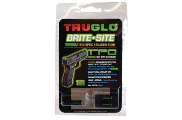 TruGlo Tritium Fiber Optic Brite-Site Handgun Sight For Smith and Wesson MP Green Front and Yellow Rear Sight TG131MPTY