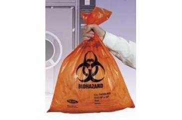 Tufpak Autoclavable Biohazard Bags, 2.0 mil 14220-046 Orange Bags With Indicator