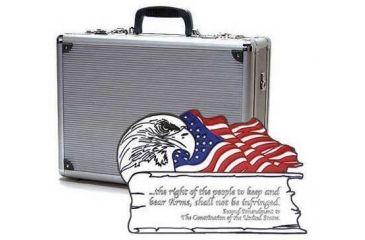 TZ Case 2nd Amendment Double Duty Pistol Case 18 x 13 x 7, Black