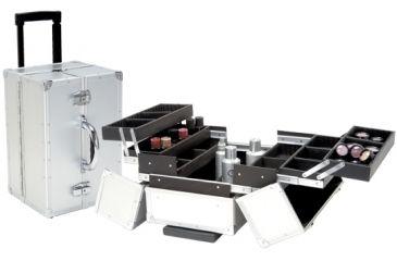 TZ Case AB100T-S Large Professional Make-Up Beauty Case, Silver AB100T-S