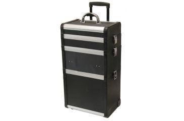 Tz Case Abm 301t Bd Large Pro Beauty Case Black 3 Sections W Wheels Pull Handle