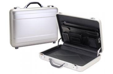TZ Case AC44S Silver Molded Aluminum Attache Document Case w/ Triple Expandable File AC-44S
