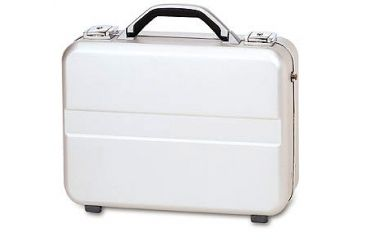 TZ Case AC77S Compact Size Molded Aluminum Silver Attache Case AC-77S