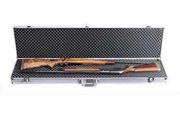 TZ-Case Pro Tech Double Rifle, Shotgun case With Wheels, 53x15x4.25, Silver TZ0053SD