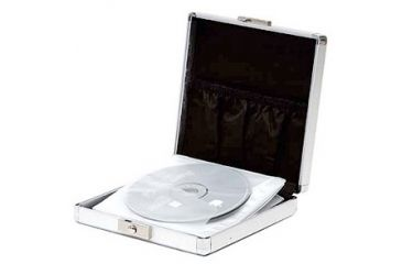 TZ Case CD212 Small Aluminum CD/DVD Case - Smooth Silver Circle CD212DSC