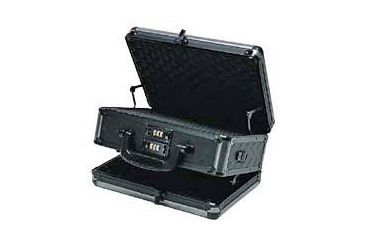 T.Z. Case Ironite Series Alumitech Diamond Plate Black Finish Pistol Case 12.5x9x6, Black TZ0012DPI