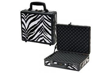 T.Z. Case Pro-Tech 11.5x 9x3.25 Single Pistol Case, Zebra