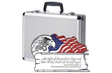 T.Z. Cases II Amendment 4 Pistol Promo Case 16x13x5, Silver TZ0013SD2