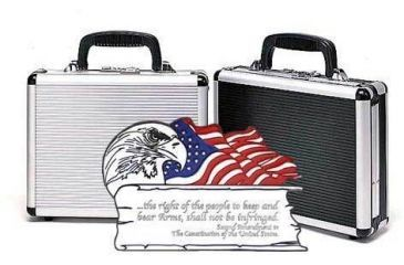 TZ Cases 2nd Amendment American Flag and Eagle Plaque Single Pistol Case 11.5x9x3.25