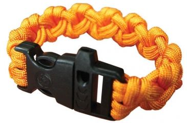 Ultimate Survival Paracord Bracelet w/Whistle, Para 550, Orange UST-295W-OR