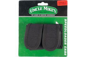 Uncle Mike's KODRA Universal Double Speedloader Case, Velcro Closure, Black 8828-1