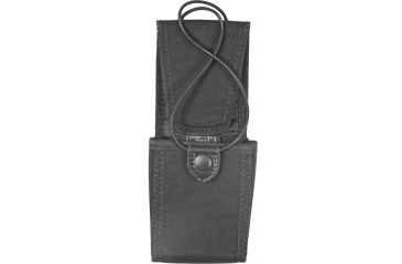 Uncle Mike's Laminated Radio Case, 1.75x2.875x4.75in - Fixed Belt Loop, Kodra Black 8897-1