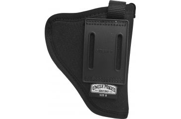 Uncle Mike's Sidekick Hip Holster - Black, Cordura nylon, Left Hand, Sm/Med Dbl Action Revolver