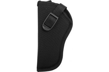 Uncle Mikes Hip Holster, Black, Left, Large Dbl Action Revolvers - 81022