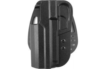 Uncle Mike's Kydex Paddle Plain Black Holster - HK USP Full Size, Left Hand 5430-2