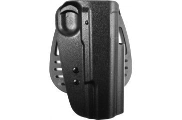 Uncle Mikes Kydex Open Top Paddle Holster, Black, Right, 54191