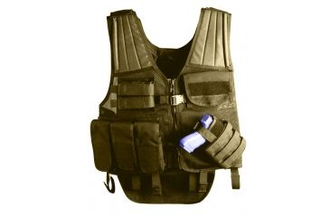 Uncle Mike's Law Enforcement Cross Draw Tactical Entry Vest - Black or OD Green, 7702210, 7702211, UM Law Enforcement Entry Vest colors UM Law Enforcement OD Green Cross Draw Entry Vest