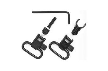 Uncle Mike's 1in Black Quick Detach Swivels for .22 w/Tube Magazine - Magnum Band 1071-2