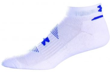 Under Armour 7-9 UA Charge Cotton Locut 6Pk-White/Asst UA 2762-WHT/AST-YL