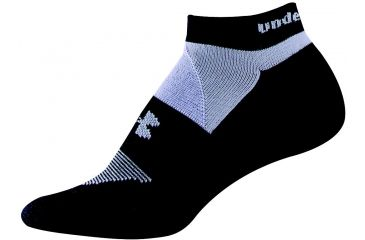 Under Armour 9-11 UACC Womens Noshow Cushn-Black/Hibiscus UA 3182-BLK/HIB-MD3