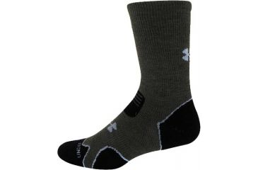 Under Armour Coldgear Hitch Heavy Cushion Boot Socks, Sage/Gray, Large, UA4661-SAG/GRY-LG