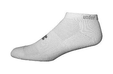 Under Armour Womens No Show Liner Socks 3110, Medium, White - 4 Pairs