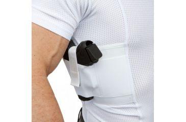 UnderTech Undercover Mens Concealment Holster V-Neck Coolux Shirt,White,XL T1275WH-XL