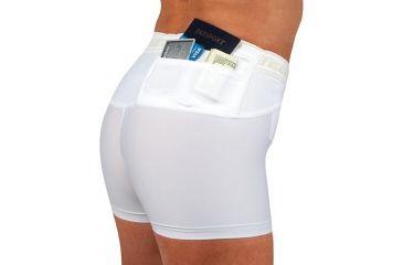 UnderTech Undercover Womens Travel Safe Short Shorts,White,2XL TS1118WH-2X