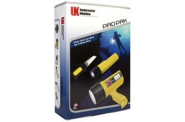 Underwater Kinetics Pro Pak w/ Safety Yellow C8, Mini Q40 w/mask strap, Remora Knife 99609