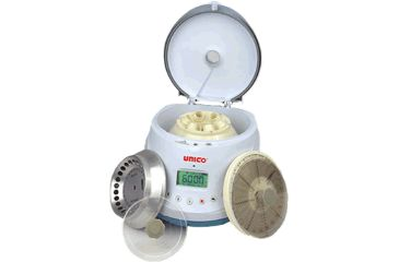 UNICO PowerSpin BX Centrifuge with all 3 rotors 6 Pl Tube, 24 Pl Microhem & 24 Pl Microcent Rotors C885