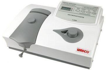 UNICO 1200 Spectrophotometer 5nm Bandpass w/10nm Single Square Cuvette Holder,220 Volt