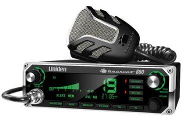 Uniden Bearcat CB Radio with 7-Color Large Display, Black/Silver Bearcat 880