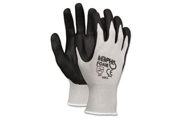 United Stationers Gloves Seamlss Dip Sml Bk CRW9673S, Unit DZN
