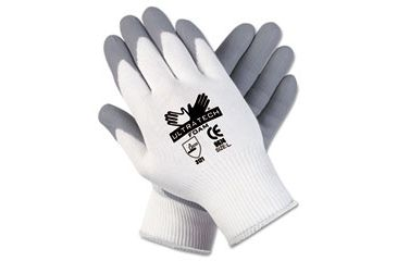 United Stationers Gloves Seamlss Dip Med Gy CRW9674M, Unit PR