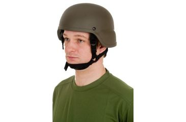 United Shield ACH Ballistic Helmet Level IIIA LE Style w/ 4pt Harness System, OD Green Medium ACH-MICH LE-OD-MD