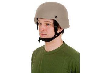 United Shield ACH Ballistic Helmet Level IIIA LE Style w/ 4pt Harness System, Tan Medium ACH-MICH LE-TN-MD