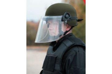 United Shield Command Ballistic Helmet Level IIIA w/ 4pt Harness System and Retrofit Face Shield, OD Green, Large COMMANDO SC650-RFFS-OD-LG