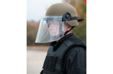United Shield Command Ballistic Helmet Level IIIA w/ 4pt Harness System and Retrofit Face Shield, Tan, Medium COMMANDO SC650-RFFS-TN-MD