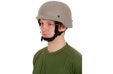 United Shield Command Ballistic Helmet Level IIIA w/ 4pt Harness System, Tan, Medium COMMANDO SC650-IIIA-TN-MD