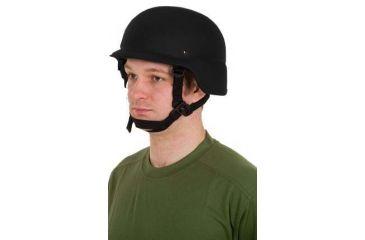 United Shield PASGT Ballistic Helmet Level IIIA w/ 4pt Harness System, Black, XL PASGT-IIIA-BK-XL