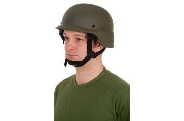 United Shield PASGT Ballistic Helmet Level IIIA w/ 4pt Harness System OD Green, Medium PASGT-IIIA-OD-MD